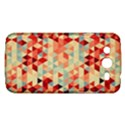 Modern Hipster Triangle Pattern Red Blue Beige Samsung Galaxy Mega 5.8 I9152 Hardshell Case  View1