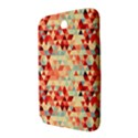 Modern Hipster Triangle Pattern Red Blue Beige Samsung Galaxy Note 8.0 N5100 Hardshell Case  View3