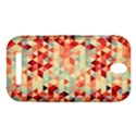 Modern Hipster Triangle Pattern Red Blue Beige HTC One SV Hardshell Case View1