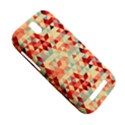 Modern Hipster Triangle Pattern Red Blue Beige HTC One SV Hardshell Case View5