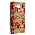 Modern Hipster Triangle Pattern Red Blue Beige Sony Xperia SP View2