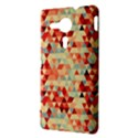 Modern Hipster Triangle Pattern Red Blue Beige Sony Xperia SP View3