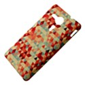 Modern Hipster Triangle Pattern Red Blue Beige Sony Xperia SP View4