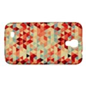 Modern Hipster Triangle Pattern Red Blue Beige Samsung Galaxy Mega 6.3  I9200 Hardshell Case View1
