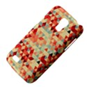 Modern Hipster Triangle Pattern Red Blue Beige Galaxy S4 Mini View4