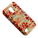 Modern Hipster Triangle Pattern Red Blue Beige Galaxy S4 Mini View5