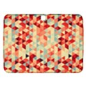 Modern Hipster Triangle Pattern Red Blue Beige Samsung Galaxy Tab 3 (10.1 ) P5200 Hardshell Case  View1