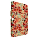Modern Hipster Triangle Pattern Red Blue Beige Samsung Galaxy Tab 3 (10.1 ) P5200 Hardshell Case  View2