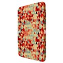 Modern Hipster Triangle Pattern Red Blue Beige Samsung Galaxy Tab 3 (10.1 ) P5200 Hardshell Case  View3
