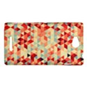 Modern Hipster Triangle Pattern Red Blue Beige Sony Xperia C (S39H) View1