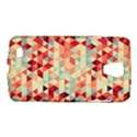 Modern Hipster Triangle Pattern Red Blue Beige Galaxy S4 Active View1