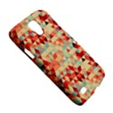 Modern Hipster Triangle Pattern Red Blue Beige Galaxy S4 Active View5
