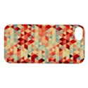 Modern Hipster Triangle Pattern Red Blue Beige Apple iPhone 5S/ SE Hardshell Case View1