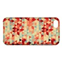Modern Hipster Triangle Pattern Red Blue Beige Apple iPhone 5C Hardshell Case View1