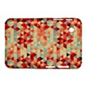 Modern Hipster Triangle Pattern Red Blue Beige Samsung Galaxy Tab 2 (7 ) P3100 Hardshell Case  View1