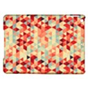 Modern Hipster Triangle Pattern Red Blue Beige iPad Air Hardshell Cases View1