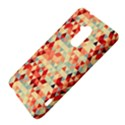 Modern Hipster Triangle Pattern Red Blue Beige HTC One Max (T6) Hardshell Case View4