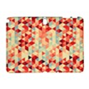 Modern Hipster Triangle Pattern Red Blue Beige Samsung Galaxy Note 10.1 (P600) Hardshell Case View1