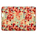 Modern Hipster Triangle Pattern Red Blue Beige Kindle Fire HDX Hardshell Case View1