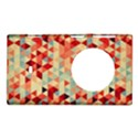 Modern Hipster Triangle Pattern Red Blue Beige Nokia Lumia 1020 View1