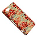 Modern Hipster Triangle Pattern Red Blue Beige Sony Xperia Z1 Compact View5