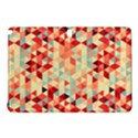Modern Hipster Triangle Pattern Red Blue Beige Samsung Galaxy Tab Pro 10.1 Hardshell Case View1