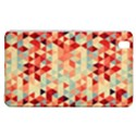 Modern Hipster Triangle Pattern Red Blue Beige Samsung Galaxy Tab Pro 8.4 Hardshell Case View1