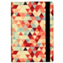 Modern Hipster Triangle Pattern Red Blue Beige iPad Mini 2 Flip Cases View2