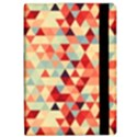 Modern Hipster Triangle Pattern Red Blue Beige iPad Air Flip View2