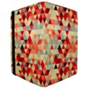 Modern Hipster Triangle Pattern Red Blue Beige iPad Air Flip View3