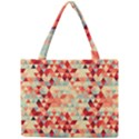 Modern Hipster Triangle Pattern Red Blue Beige Mini Tote Bag View1