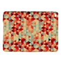 Modern Hipster Triangle Pattern Red Blue Beige iPad Air 2 Hardshell Cases View1