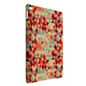 Modern Hipster Triangle Pattern Red Blue Beige iPad Air 2 Hardshell Cases View2