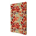 Modern Hipster Triangle Pattern Red Blue Beige iPad Air 2 Hardshell Cases View3