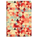 Modern Hipster Triangle Pattern Red Blue Beige iPad Air 2 Flip View1
