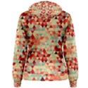 Modern Hipster Triangle Pattern Red Blue Beige Women s Pullover Hoodie View2