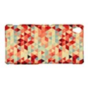 Modern Hipster Triangle Pattern Red Blue Beige Sony Xperia Z3 View1