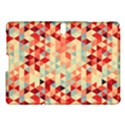Modern Hipster Triangle Pattern Red Blue Beige Samsung Galaxy Tab S (10.5 ) Hardshell Case  View1