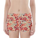 Modern Hipster Triangle Pattern Red Blue Beige Boyleg Bikini Wrap Bottoms View1