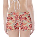 Modern Hipster Triangle Pattern Red Blue Beige Boyleg Bikini Wrap Bottoms View2