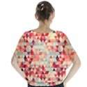 Modern Hipster Triangle Pattern Red Blue Beige Blouse View2