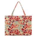 Modern Hipster Triangle Pattern Red Blue Beige Medium Tote Bag View1