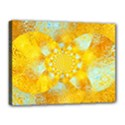 Gold Blue Abstract Blossom Canvas 16  x 12  View1