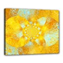 Gold Blue Abstract Blossom Canvas 20  x 16  View1