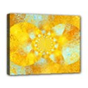 Gold Blue Abstract Blossom Deluxe Canvas 20  x 16   View1