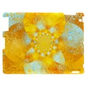 Gold Blue Abstract Blossom Apple iPad 2 Hardshell Case View1