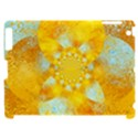 Gold Blue Abstract Blossom Apple iPad 2 Hardshell Case (Compatible with Smart Cover) View1