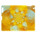 Gold Blue Abstract Blossom Apple iPad 3/4 Hardshell Case View1
