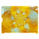 Gold Blue Abstract Blossom Apple iPad 3/4 Hardshell Case (Compatible with Smart Cover) View1