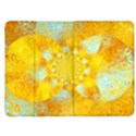 Gold Blue Abstract Blossom Kindle Fire (1st Gen) Flip Case View1